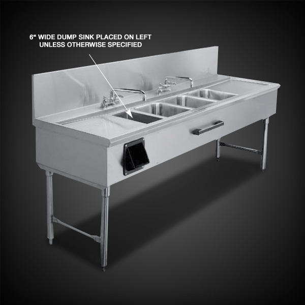 Infinity Stainless Products 3.5 bowl sink
